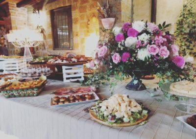 9_zia_cathys_allestimento buffet antipasti fiori